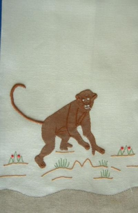#Monkey Guest Towel#