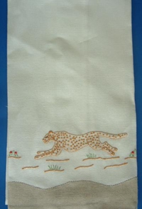 #Cheetah Guest Towel#